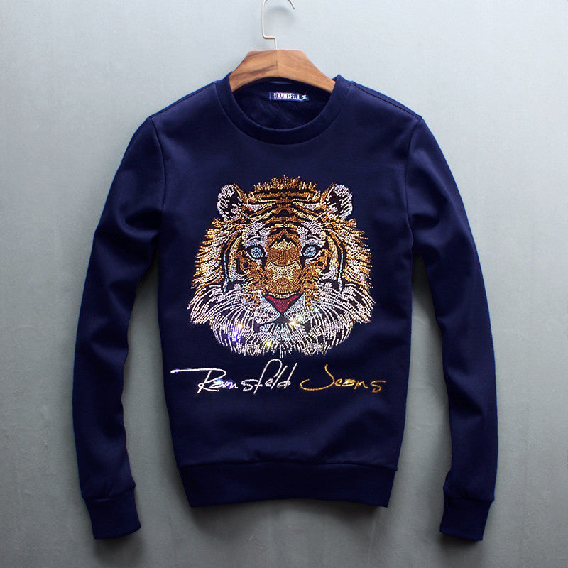 Bling Bling Crystal Glitter Tiger Unisex Sweatshirt - Holy Buyble