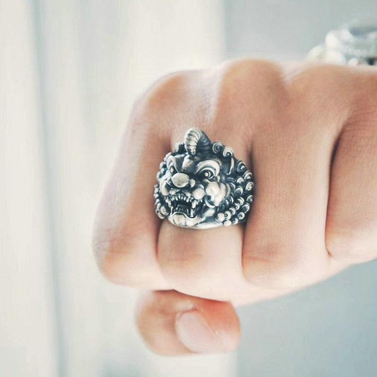 Mystic Unicorn Beast Ring - Holy Buyble