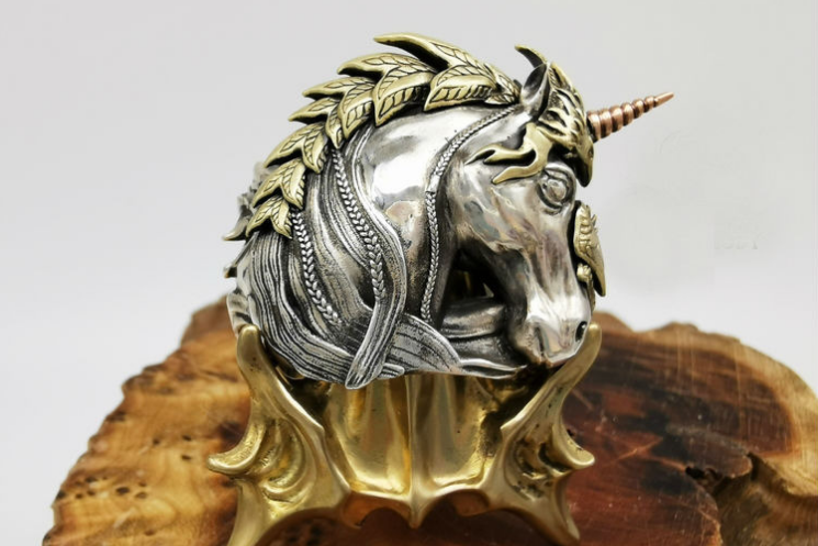 Fearless Knight Unicorn Ring - Holy Buyble