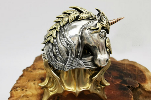 Guardian of Fortune Tribal Foo Dog Lion Ring