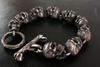 Handcrafted Silver Skull Chain Bracelet