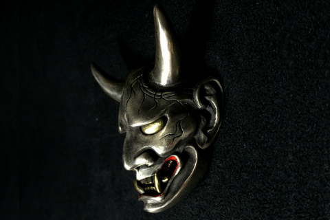 Handcrafted Silver Devil Unicorn Ring