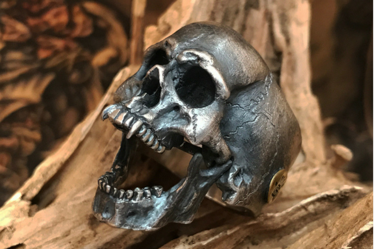 Made to Order Vampire Skull Silver Ring - Holy Buyble