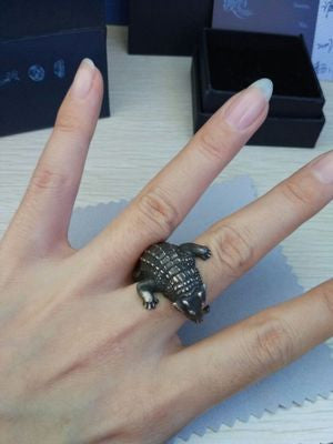 Crocodile Silver Ring - Holy Buyble