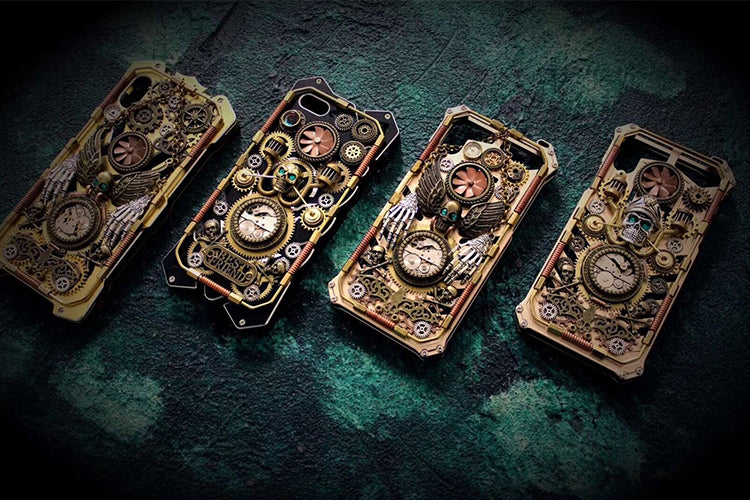 Custom Made Steampunk Skull Phone Case - Holy Buyble