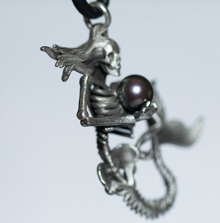 Mermaid Skeleton Necklace - Holy Buyble