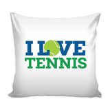 I Love Tennis Pillow Cover