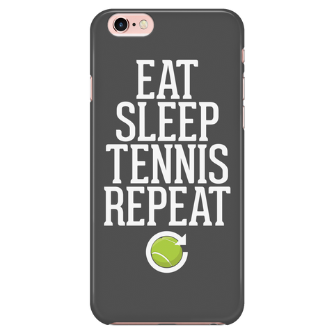 Eat Sleep Tennis Repeat iPhone Case