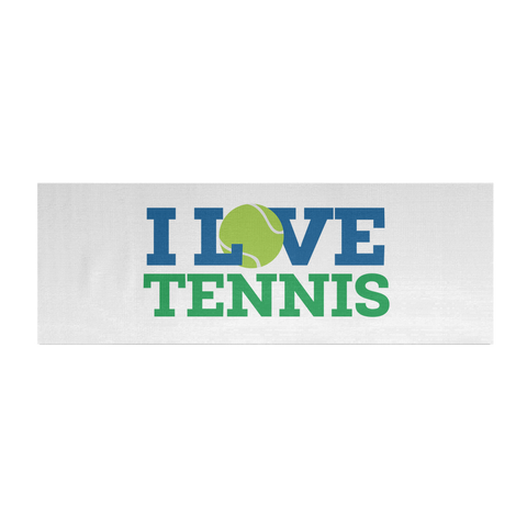 I Love Tennis Yoga Mat
