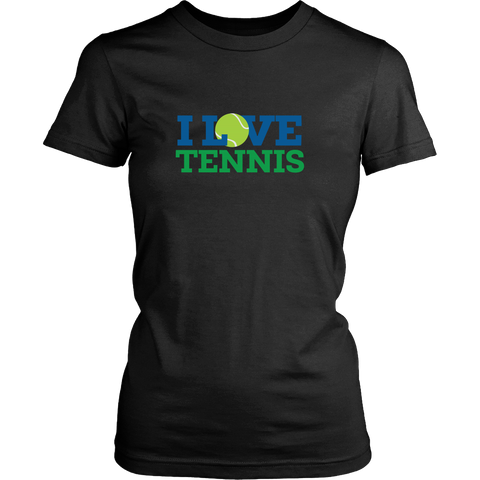 I Love Tennis Shirt (Ladies)