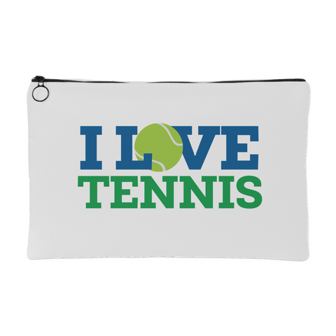 I Love Tennis Pouch (White)