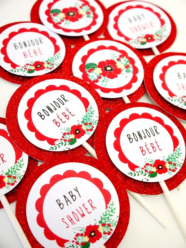 Coquelicots Kit Printables Fête Baby Shower | BirdsParty.fr