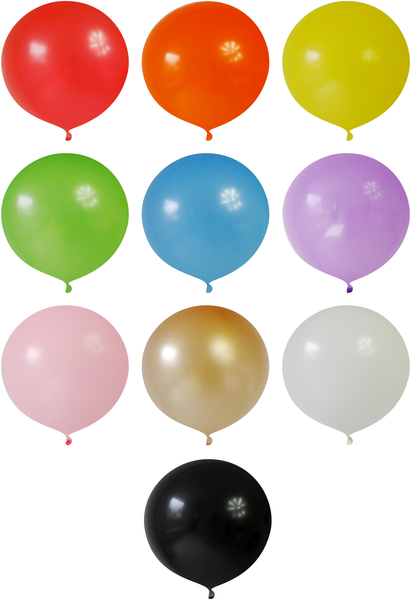 Gros Ballons en Latex Ronds Géants 90cm | BirdsParty.fr