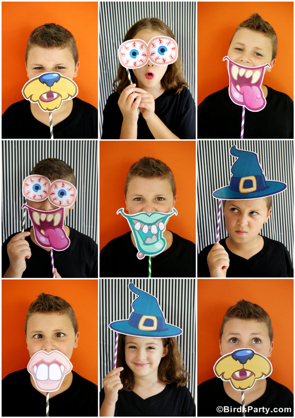Halloween Photo Booth Déguisement Kit de Fête Printable | BirdsParty.fr