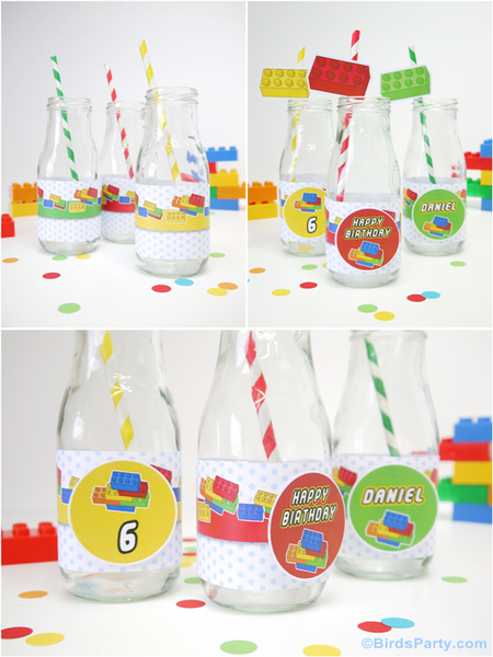 Blocs de Construction Kit Printables Fête Anniversaire | BirdsParty.fr