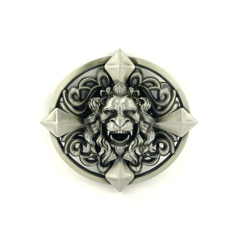 3d lion head cross buckle