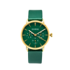 NOX-BRIDGE Classic Vega Viridi Vegan Forest Green Leather Strap Green Dial 36MM Gold Watch