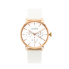NOX-BRIDGE Classic Meissa Vegan White Leather Strap 36MM Rose Gold Watch