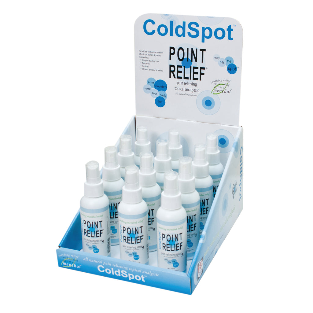 Point Relief ColdSpot 3oz Spray Bottles with Display Box