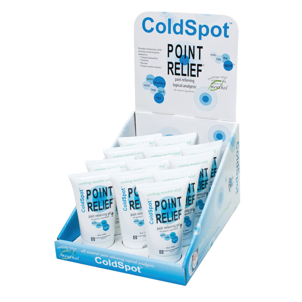 Point Relief ColdSpot 4oz Gel Tube with Display Box