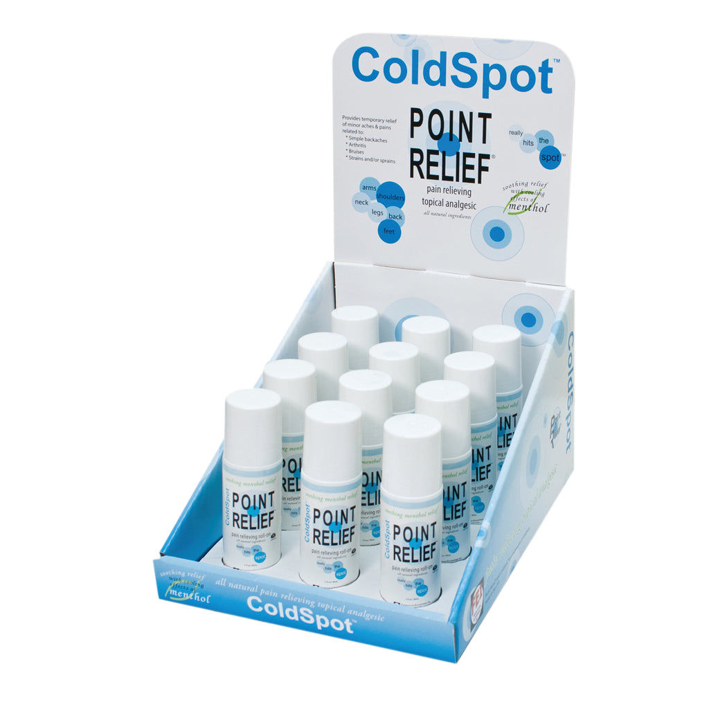 Point Relief ColdSpot 3oz Roll-On Applicator with Display Box