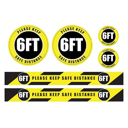 6 Foot Safe Distance Social Distancing Sign