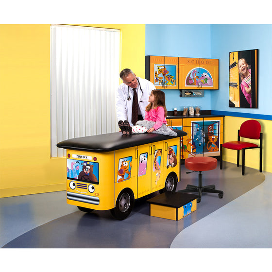 Zoo Bus Pediatric Ready Room by Clinton Industries