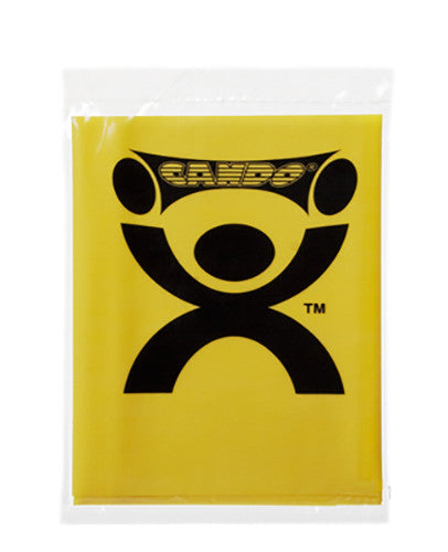 CanDo Light Powder Exercise Band - 4' - Yellow - X-soft