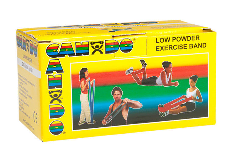 CanDo Light Powder Exercise Band - 6yd - Yellow - X-soft