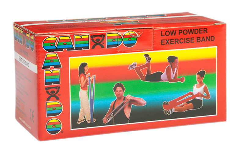 CanDo Light Powder Exercise Band - 6yd - Red - Soft