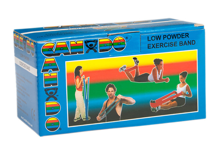 CanDo Light Powder Exercise Band - 6yd - Blue - Firm