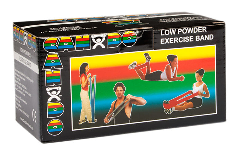 CanDo Light Powder Exercise Band - 6yd - Black - X-firm
