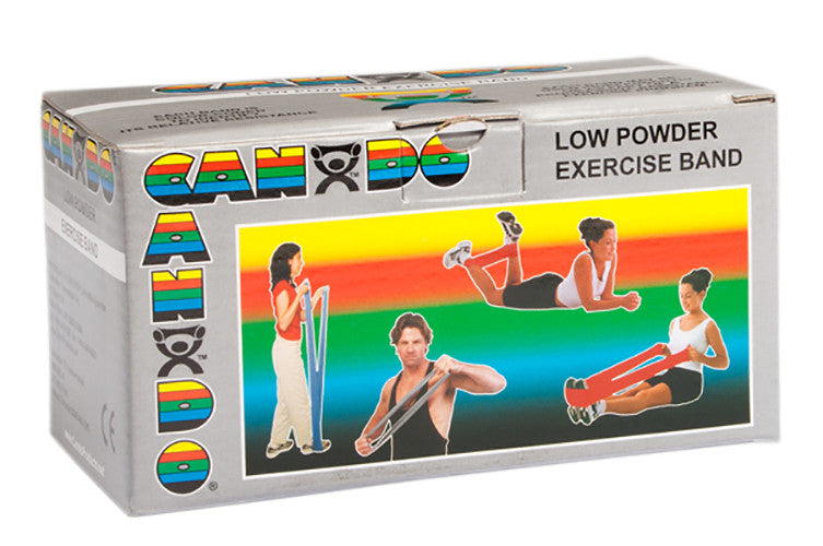 CanDo Light Powder Exercise Band - 6yd - Silver - XX-firm