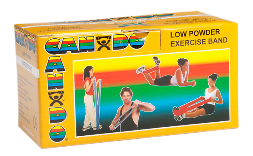 CanDo Light Powder Exercise Band - 6yd - Gold - XXX-firm