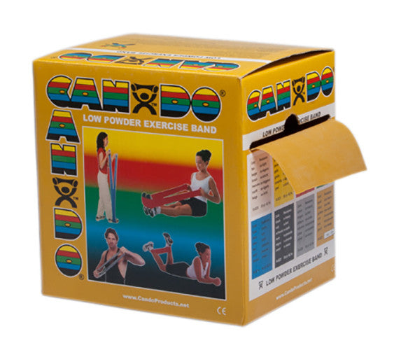 CanDo Light Powder Exercise Band - 50yd - Gold - XXX-firm