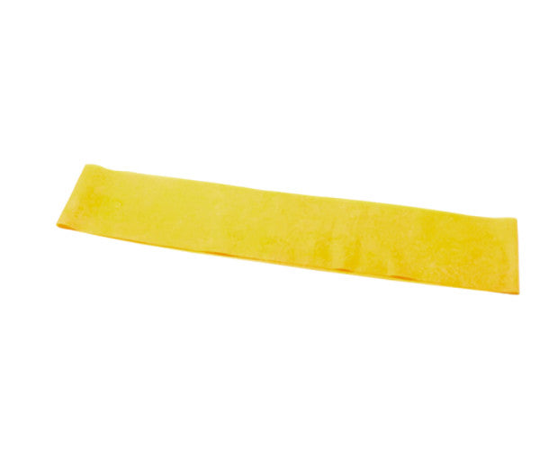 "CanDo Preformed Exercise Loop - 15"" - Yellow - X-soft"