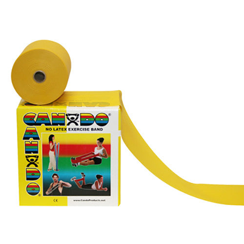 CanDo Non-Latex Exercise Band - 50yd - Yellow - X-soft