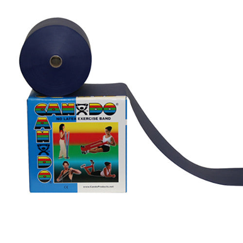 CanDo Non-Latex Exercise Band - 50yd - Blue - Firm