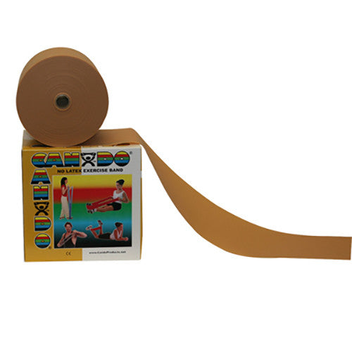 CanDo Non-Latex Exercise Band - 50yd - Gold - XXX-firm