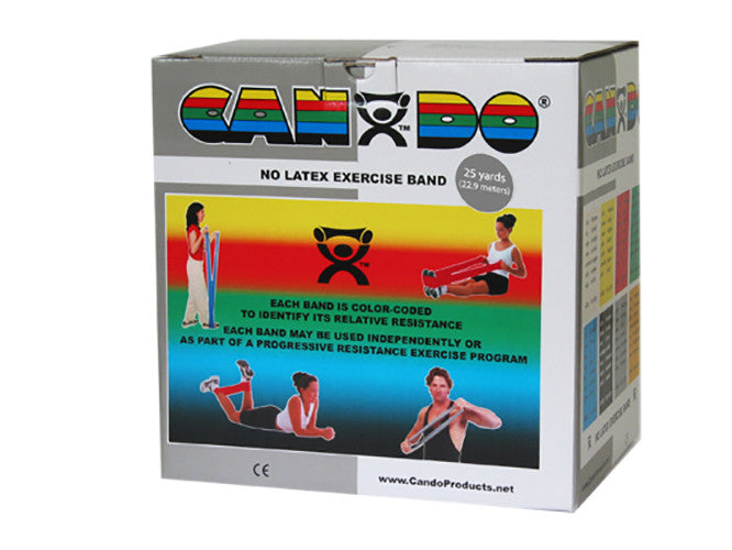 CanDo Non-Latex Exercise Band - 25yd - Silver - XX-firm
