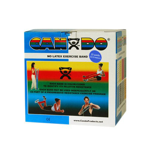 CanDo Non-Latex Exercise Band 5-Piece Set - 25yd