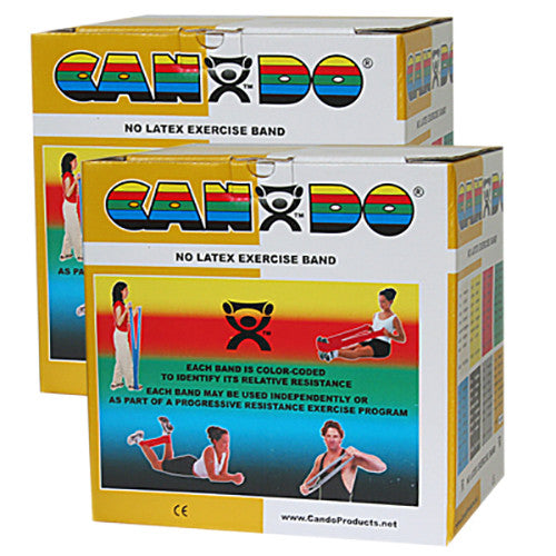 CanDo Non-Latex Exercise Band - 100yd (4 x 25yd Rolls) - Gold - XXX-firm
