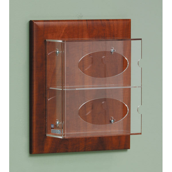 Double Side-Loading Glove Box Holder on Panel - Cherry