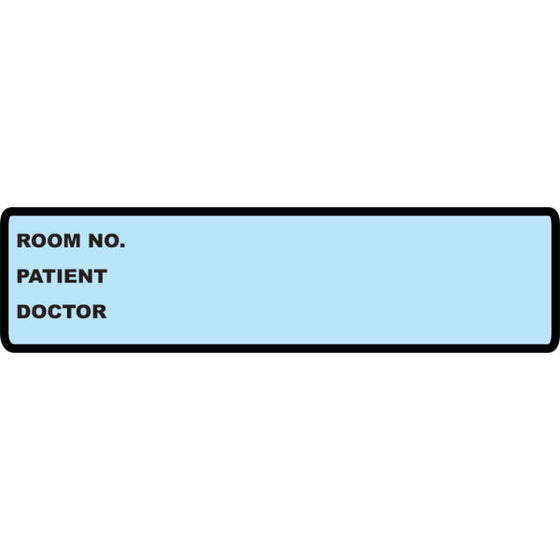 Medical Chart Identification Labels - Blue