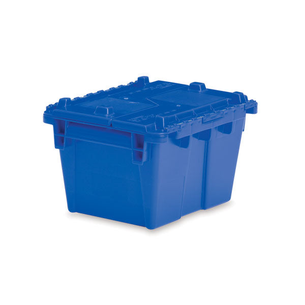"Lockable Storage Totes - Extra Small - 11.8""L x 9.8""W x 7.7""H - Blue"