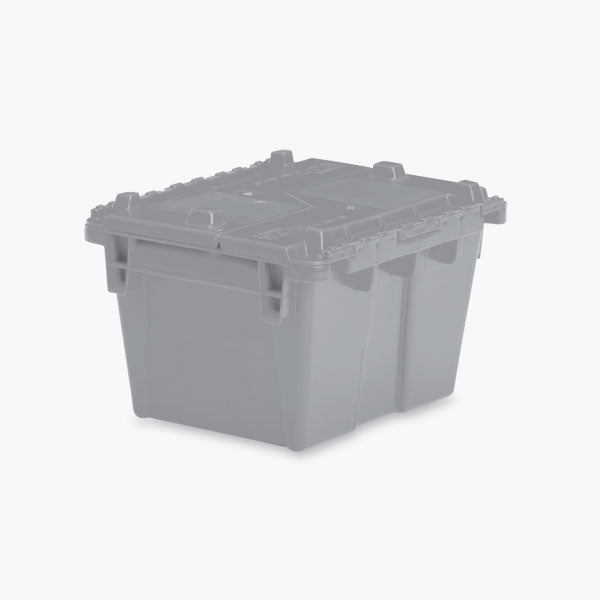 "Lockable Storage Totes - Extra Small - 11.8""L x 9.8""W x 7.7""H - Gray"