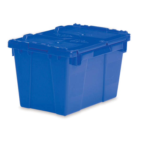 "Lockable Storage Totes - Small - 15.2""L x 10.9 ""W x 9.7""H - Blue"