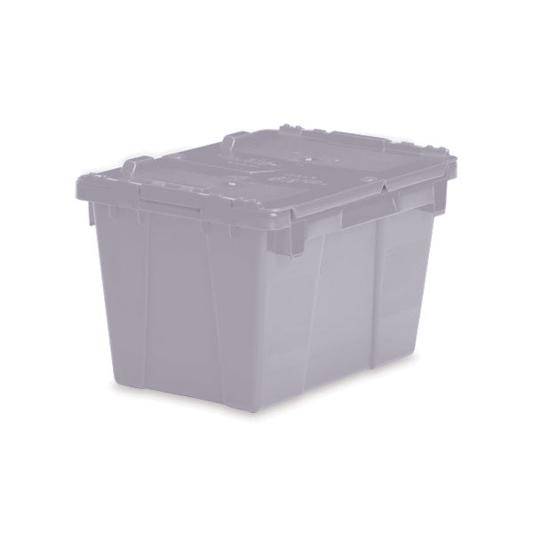 "Lockable Storage Totes - Small - 15.2""L x 10.9 ""W x 9.7""H - Gray"
