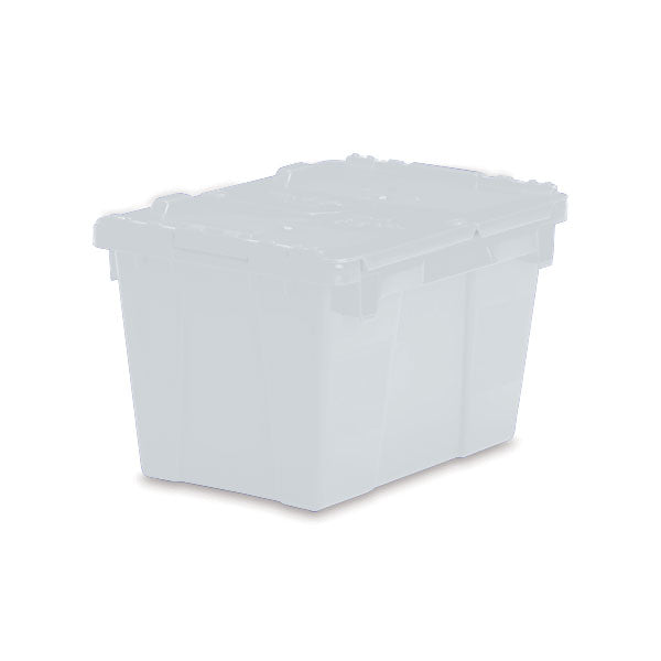 "Lockable Storage Totes - Small - 15.2""L x 10.9 ""W x 9.7""H - Semi Clear"