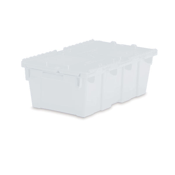 "Lockable Storage Totes - Medium - 19.7""L x 11.8"" W x 7.3""H - Semi Clear"